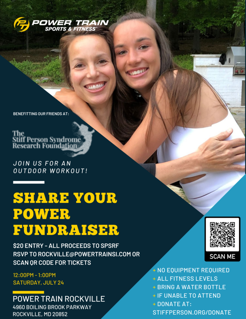 Share Your Power fundraiser with Power Train Rockville - July 24 noon