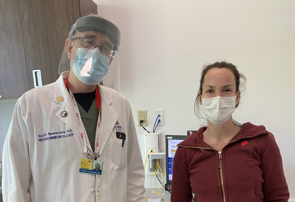 Tara and Dr. Newsome working on the infamous 19 vials of blood