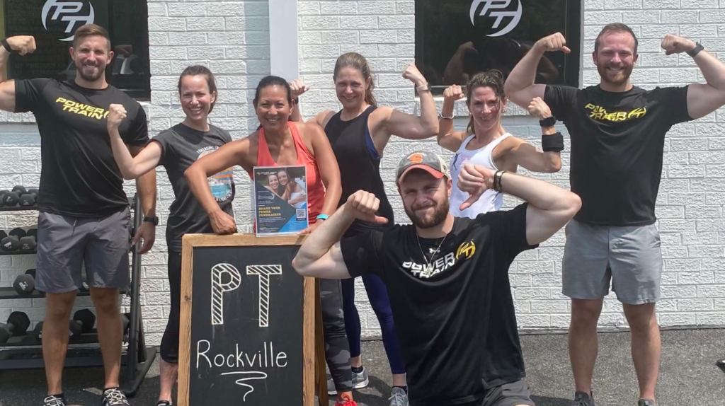 Surrounded by Superheroes at the Power Train Rockville Fundraiser Bootcamp